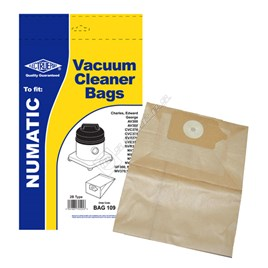 Numatic (Henry) High Quality Replacement BAG109 Numatic 2B Vacuum Dust Bags - Pack of 5 for 356 - ES183675