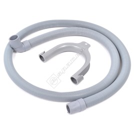 Universal Straight to Hooked End 1.5m Drain Hose - For 21mm Outlets - ES479496