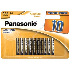 Panasonic AAA Alkaline Power Batteries - Pack of 10 - ES1553983