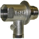 Steam Cleaner Safetly Valve with Lateral Run