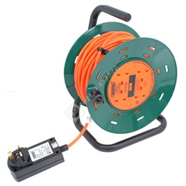Aquavac 25m Garden Cable Reel with RCD Adaptor - ES1501038
