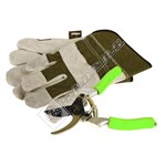 Rolson Heavy Duty Rigger Gloves With Secateur Set