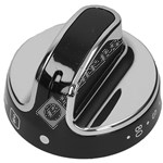 Black & Chrome Main Oven Control Knob