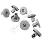 Grey Dishwasher Lower Basket Wheel Kit Pack of 8