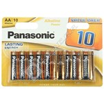 Panasonic AA Alkaline Power Batteries - Pack of 10