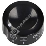 Oven Control Knob - Black