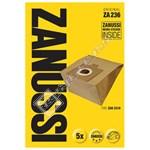 Vacuum Cleaner ZA236 Paper Bags (Pack of 5)