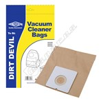 Electruepart BAG249 Dirt Devil Vacuum Dust Bags (Type DD) - Pack of 5