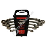 Rolson 5 Piece Obstruction C-Shape Spanner Set