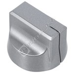 Stainless Steel Coloured Oven Control Knob