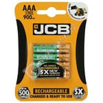 JCB AAA Rechargeable Batteries - Pack of 4