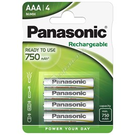 Panasonic AAA Ready To Use Rechargeable Batteries - Pack of 4 - ES1597173