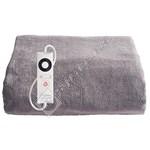 Dreamland 16447 Relaxwell Intelliheat Luxury Velvety Heated Throw - Grey