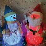 Christmas Red Snowfall Santa Decoration