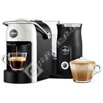 Lavazza Jolie Plus White Coffee Machine & Milk Frother