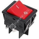 Vacuum Cleaner Red Rocker Switch