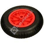 "Compatible 14"" Wheelbarrow Wheel Tyre & Inner Tube - Red"