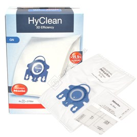 Miele GN HyClean 3D Efficiency Vacuum Dust Bag & Filter Pack - Pack of 4 Bags - ES1062060
