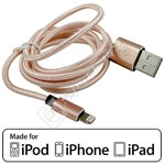 Compatible MFI Approved Lightning Cable – 1M Rose Gold