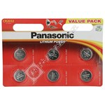 Panasonic CR2032 Lithium Coin Batteries