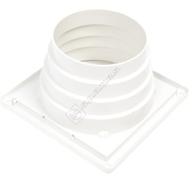 Universal Tumble Dryer Vent Walled Outlet - White - ES509977