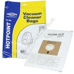 BAG352 High Quality Hotpoint Filter-Flo Synthetic Dust Bags - Pack of 5