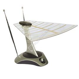 SLX Gold Digi-Top Amplified Aerial Ideal For Digital Or Analogue TV/DAB/FM Radio - ES1552232
