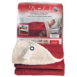 Dreamland 16326 Wine Velvety Sherpa Heated Overblanket