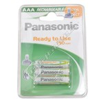 Panasonic HHRP03H3B AAA Rechargeable Batteries - Pack of 3