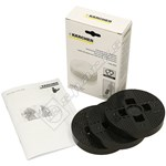 Karcher Floor Polisher Felt Buffing Pad - Pack of 3