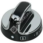 Black/Chrome Main Oven Control Knob
