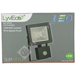 Lyvia 10W LED Slim PIR Floodlight