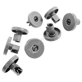 Grey Dishwasher Lower Basket Wheel Kit Pack of 8 - ES573852