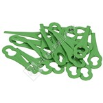 Grass Trimmer Plastic Blades - Pack of 20
