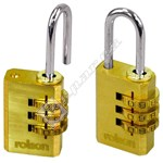 Rolson Combination Padlock - Pack of 2