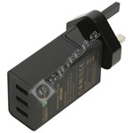 Qualcomm 2.0 42W 3 Port USB Charger - UK Plug