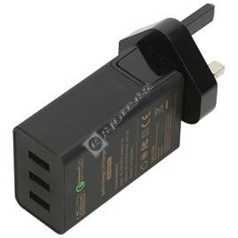 Qualcomm 2.0 42W 3 Port USB Charger - UK Plug - ES1773700