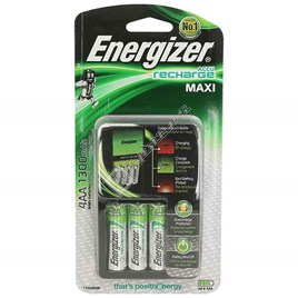 Energizer Accu Recharge Maxi Charger + 4 x AA Batteries - ES1751206