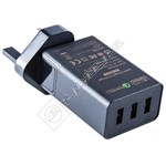 Qualcomm 2.0 42W 3 Port USB Charger - UK Plug