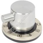 Silver Main Oven Control Knob