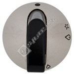 Hob Control Knob Chrome & Black