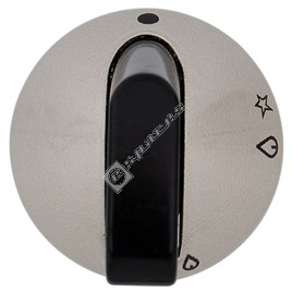 Hob Control Knob Chrome & Black - ES544417