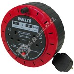 5 Metre Extension Cable Reel with 2 Sockets