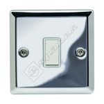 Wellco Mirror Chrome 1 Gang 2 Way Lightswitch