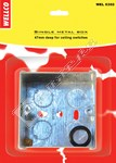 Wellco Silver Single 47mm Metal Pattress Box