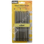 Rolson 9 Piece Power Screwdriver Bit Set