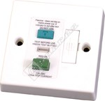 White Single Fused RCD Spur