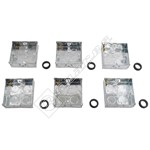 Wellco Silver 25mm Metal Pattress Box - Pack of 6