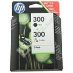 Genuine Black & Tri-Colour HP 300 Ink Cartridge Multipack (CN637EE)