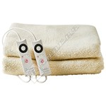 Dreamland 16306 Intelliheat King Dual Soft Fleece Electric Heated Mattress Protector